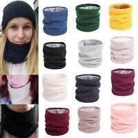 Soft Men Women Infinity Scarf Winter Warm Cotton Scarves Knitted Collar Bandanas