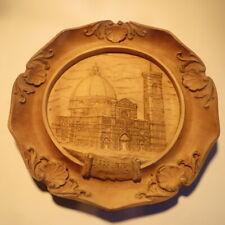 Assiette souvenir de « FIRENZE » Piazza del Duomo - 1 petit éclat au bord  POIDS