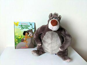 "Disney Store / The Jungle Book - 12"" Baloo Plush / Soft Toy + Book / Bundle"