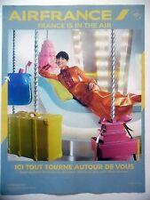 PUBLICITE-ADVERTISING :  AIR France Ici tout tourne autour de vous  2016 Avions