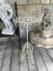 """ANTIQUE FRENCH WIRE PLANT STAND STUNNING PATINA 35"""" Tall"""
