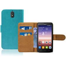 Fundas y carcasas color principal azul piel sintética para teléfonos móviles y PDAs Huawei
