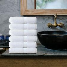 White Hand Towels Cotton Set 6 Pcs for Bath Towels 15x25 Traveling Beach Hotel