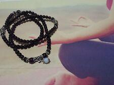 Tebetan Buddhist 108 Mala 6mm Purple Amethyst Bracelet/Necklace + Velvet Pouch