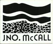 Jno. McCall Coal Company Vintage Unused Mining Hard Hat Decal Sticker