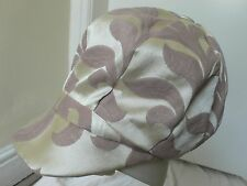 Small Cream and Beige Vintage 1970s style Baker Boy Hat