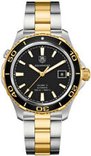 WAK2122.BB0835 | Authentic Tag Heuer Aquaracer Two-Tone Black Dial Men's Watch