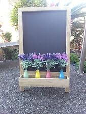 A Frame Chalkboard Blackboard with Planter Box Restaurant Cafe Florist Shop Menu