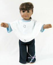 American Girl Doll Samantha Brown Hair Green Eyes Jeans Outfit Pleasant Company