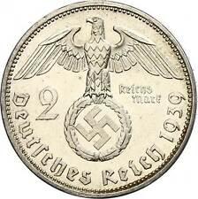 MONNAIE NAZI ORIGINALE EN ARGENT Allemande Adolf HITLER III Reich WW2 39-45
