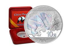 10 Yuan Silber China Panda 2016 Holographic Edition in Box und CoA