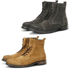 Jack & Jones Ankle Boots JFWRussell Mens Suede Leather Winter Lace Up Shoes