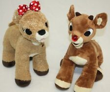 Build a Bear Rudolph The Red Nose Reindeer Lot 2 Plush Stuffed Animals Toys