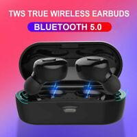 Bluetooth 5.0 Headset TWS Wireless Earphones Earbuds Stereo In-Ear Headphones