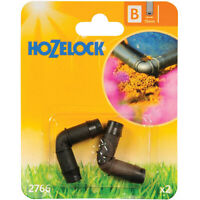 90 Degree Elbow Connector 13mm Hozelock 2766 Plastic 2 Pack Supply Hose Watering