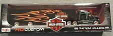 Harley Davidson Custom Hauler Trailer Black 1/64 Diecast Model by Maisto