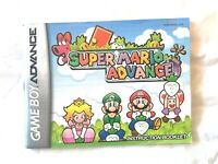 Manual ONLY ~ Super Mario Advance - GBA Instruction Booklet - (NO GAME)