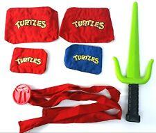 Vtg 1988 TMNT Raphael Battle Fun Set Role Play Belt Knee & Elbow Pads Sai Lot