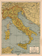Mid-Century Map of Italy Detailed Large Wall Art Poster Print Italian WW II