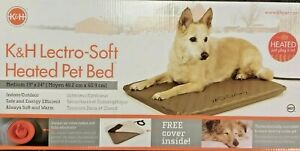 "K & H Lectro-Soft Heated Pet Bed Medium 19"" x 24"" Heating Pad Adjustable Comfort"