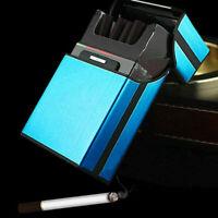 Unisex Aluminum Metal Cigarette Pocket Storage Cigar Case Holder Gift Box S0U7