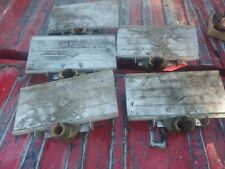 Lot Of 5 K G Brown Brass Aluminum Woodworking Vise Stops Check Photos Please