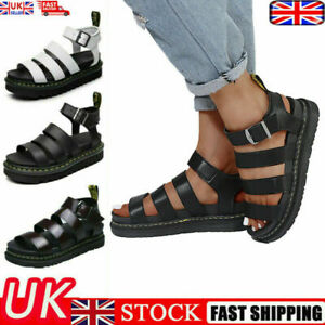 UK 2021 Dr Martenss BLAIRE WOMEN'S HYDRO LEATHER GLADIATOR SANDALS Soft NAPPA