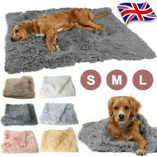 More details for pet puppy soft fluffy cosy warm throw mat extra large dog cat blanket cushion