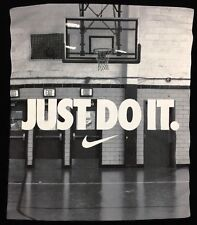 Nike Just Do It T-Shirt Basketball Dri-Fit Athletic Cut Tee Logo Black Size 2XL