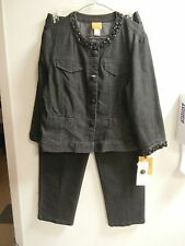 Women's Size 12  BLACK JEANS and JACKET by Ruby Rd .NEW WITH TAGS