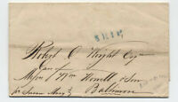 1844 Rio de Janeiro to Baltimore MD stampless ship letter [H.471]