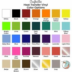 Iron on Vinyl Rolls | HTV Vinyl for Cricut, Silhouette By Craftables