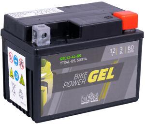 YTX4L-BS Roller Batterie GEL12 4L S 12V 3A (c20) 60 A (EN) YTX4L-BS