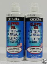 (2LOT) ANDIS Lubricant Blade Oil for Hair Clipper Trimmer Shaver 4oz