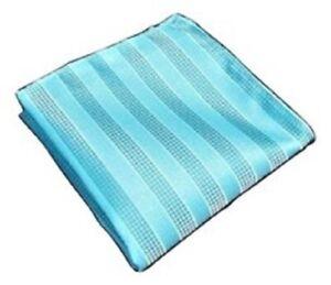 "Buy2) Men's Stripe Handkerchief Pocket Square 9.8"" x 9.8"" Dressy Party!"