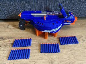 NERF N-STRIKE ELITE Blue Hail Fire Blaster Gun Toy With 8 Mags & 40 Ammo Darts