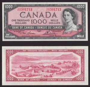 Canada 🇨🇦1954 - $1000 1,000 Dollars Lawson Bouey Sig.- *HIGH VALUE* AU+ to UNC