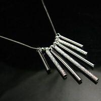 ASAMO Damen Halskette mit Stäbchen 925 Sterling Silber plattiert HA1094