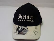 Ice Man Chuck Liddell MMA Black & Silver Fitted OSFM Baseball Hat Distressed