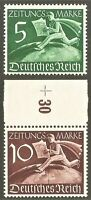 DR Nazi 3rd Reich Rare WWII Stamp Hitler's Postman over World News Service Stamp