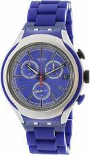 New Mens Swatch YYS4017AG Irony Xlite Blue Attack 45mm Quartz Watch