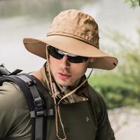 Quick Dry Bucket Hat Boonie Hunting Fishing Outdoor Cap Wide Brim Unisex Sun Cap