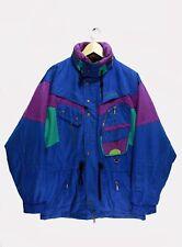 Vtg Nevica Jacket Ski Snowboard Neon 80s/90s size 42 / Xl / Xxl Mens Hidden Hood