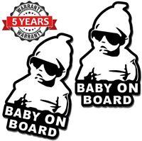 2 x PVC Vinyle Autocollant Bébé à Bord Voiture Baby on Board Stickers Sécurité
