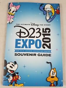 Disney 2015 D23 Expo Ultimate Guide Book With Trading Cards New