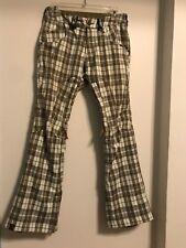 Plaid Bonfire Ski Pants Size XS, 15k Waterproof 10K Breathable Pockets Air Vents