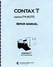 Contax T Camera & T14 Auto Flash Service & Repair Manual Reprint