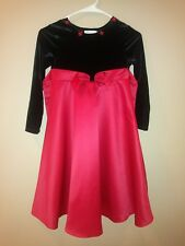 Girls Dress Black and Red sz 6x by Bonnie Jean