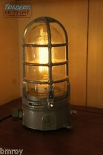 Vintage Industrial Explosion Proof Desk Lamp Steampunk Light Stock Grey