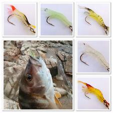 1x 10cm Soft Silicone Live Giant Prawn Shrimp Fishing Lure Hook Bait Tackle Bass